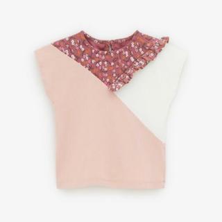 ザラキッズ(ZARA KIDS)のzara baby   花柄切替トップス 98(Tシャツ/カットソー)