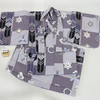 一つ身 二部式 羽織着物セット 男児 ベビー用 NO20593(和服/着物)