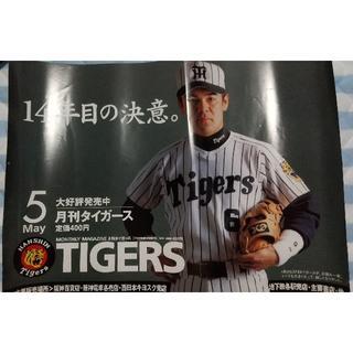 月刊タイガース販促ポスター/1998年?/和田豊/阪神タイガース(記念品/関連グッズ)