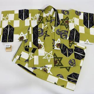 一つ身 二部式 羽織着物セット 男児 ベビー用 NO20594(和服/着物)
