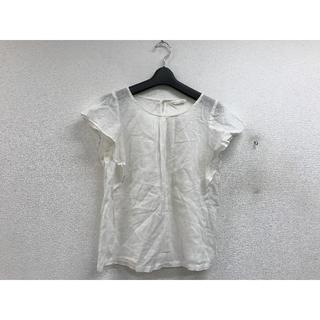 チャオパニックティピー(CIAOPANIC TYPY)の美品チャオパニックTYPY綿麻フリル袖ブラウス白X20200(シャツ/ブラウス(半袖/袖なし))