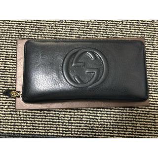 グッチ(Gucci)のGUCCI グッチ ラウンドファスナー長財布 ブラック(長財布)