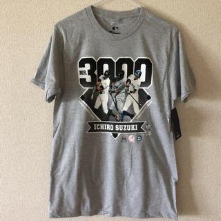 タグ付き!メジャーリーグ公式イチロー3000本安打記念Tシャツ(記念品/関連グッズ)