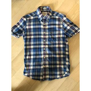 アバクロンビーアンドフィッチ(Abercrombie&Fitch)のアバクロ 半袖チェックシャツ アバクロンビー&フィッチアメカジ  サーフ シャツ(シャツ)