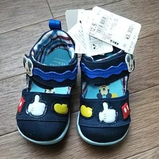 ムーンスター(MOONSTAR )のディズニー ミッキーマウス ベビーシューズ 12.5cm 靴 サンダル(サンダル)