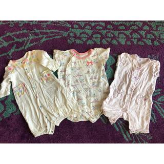エフオーキッズ(F.O.KIDS)のfoインターナショナル bebe  赤ちゃんの城  ベビー夏ロンパース3点セット(ロンパース)