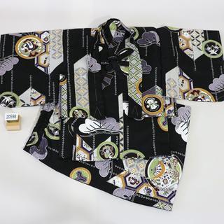 一つ身 二部式 羽織着物セット 男児 ベビー用 NO20598(和服/着物)