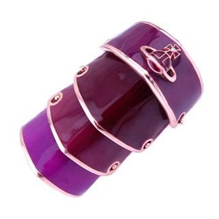 ヴィヴィアンウエストウッド(Vivienne Westwood)のヴィヴィアンウエストウッド アーマー リング 紫 パープル XL 指輪(リング(指輪))