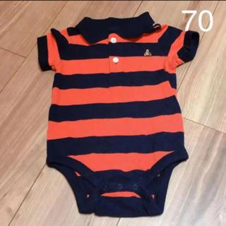 ベビーギャップ(babyGAP)のbabyGap ラガー風 ポロシャツ ロンパース 70(ロンパース)