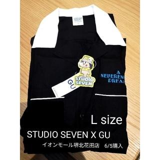 GU - 【値下げ】GU STUDIO SEVEN オープンカラーシャツ 黒 Lサイズ