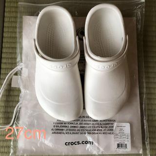 クロックス(crocs)の【値下げ】クロックス 医療 白 医療用 crocs 27cm(その他)