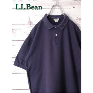 エルエルビーン(L.L.Bean)のL.L.Bean エルエルビーン 80sツートーンタグ 半袖ポロシャツ 紺 M(ポロシャツ)