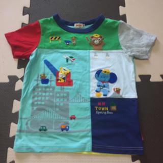 mikihouse - ミキハウス 編みワッペン付き働くプッチー 半袖Tシャツ