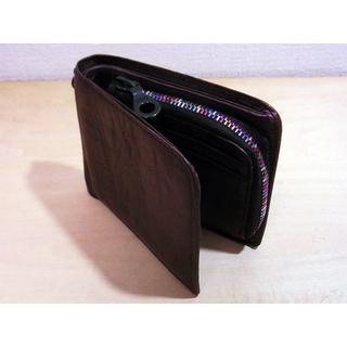 SOLATINA - 2回使用 ソラチナ レザー 2つ折り財布 ブラウン 茶色 カラフルジッパー