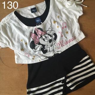 ディズニー(Disney)のDisney 130 半袖 タンクトップ セット(Tシャツ/カットソー)