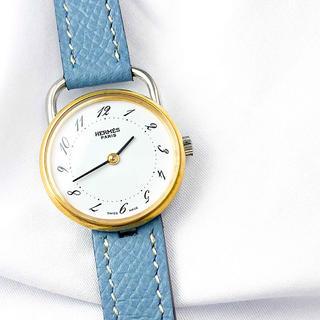 エルメス(Hermes)の【仕上済/ベルト2本】エルメス アルソー コンビ レディース 腕時計(腕時計)