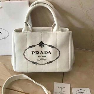 PRADA - プラダ PRADA 大人気カナパS ホワイト ラスト1点