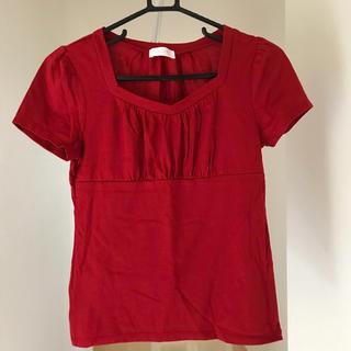 エニィスィス(anySiS)の半袖 Tシャツ 赤 レッド(Tシャツ/カットソー(半袖/袖なし))