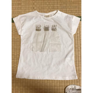 Tシャツ ZARA ザラ 女の子 110 スパンコール チュール