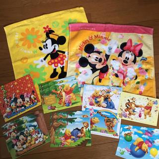 ディズニー(Disney)のディズニー☆ウォッシュタオルと絵はがき 15枚(タオル)
