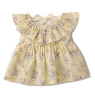petit main - 新品 petit main 衿フリル花柄半袖チュニック 110