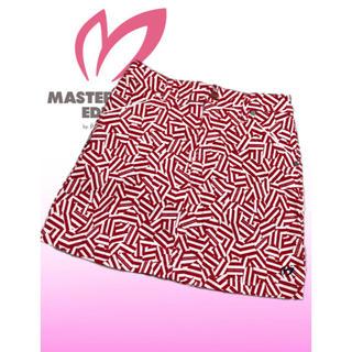 PEARLY GATES - 美品♡マスターバニー  ハート ストライプ 総柄  パンツ一体型 ゴルフスカート