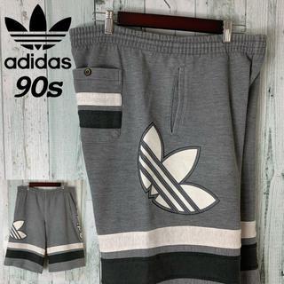 アディダス(adidas)のアディダス 90s デサント製 デカロゴ  スウェット ハーフパンツ(ショートパンツ)