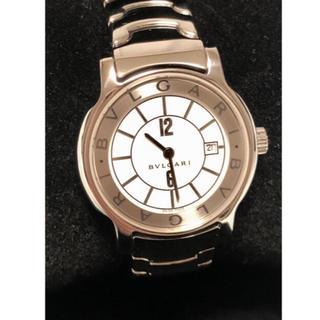 ブルガリ(BVLGARI)のブルガリ ソロテンポ クォーツ ホワイトダイヤル デイト ST29S シルバー(腕時計)
