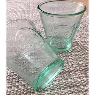KALDI グラス 2個セット  美品(グラス/カップ)