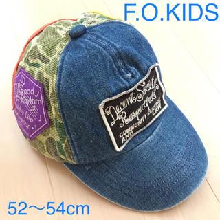 エフオーキッズ(F.O.KIDS)の52〜54cm F.O.KIDS デニム キャップ 子供用 送料込み(帽子)