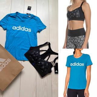 アディダス(adidas)の新品 adidas アディダス 半袖 Tシャツ スポブラ スポーツブラ セット(トレーニング用品)