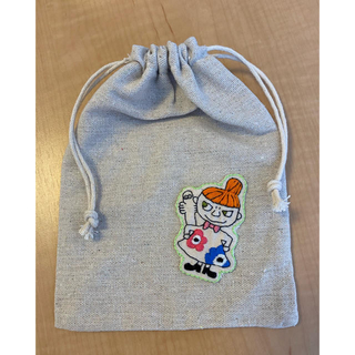 リトルミー(Little Me)のリトルミィ 巾着袋 刺繍 ハンドメイド(ポーチ)