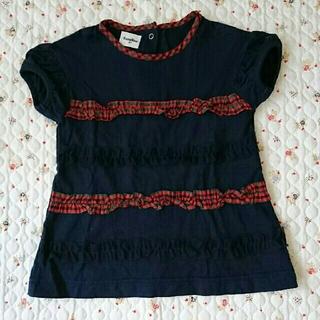 familiar - familiar Tシャツ ネイビー 90