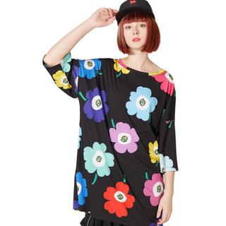 アンコロック(ankoROCK)のお花Tシャツ -メガビッグ-(Tシャツ(半袖/袖なし))