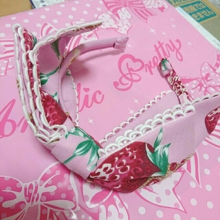 Angelic Pretty - Royal Crown Berry カチューシャ ピンク