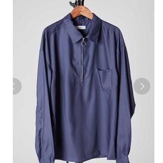 HARE - LIDNM マイクロスパンリングジップシャツ リドム ハーフジップ