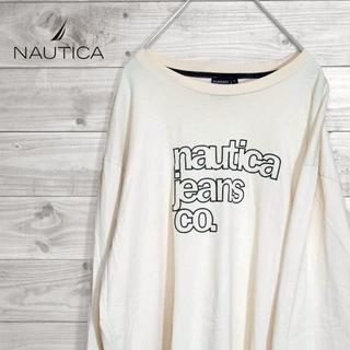 ノーティカ(NAUTICA)のNAUTICA ロングTシャツ アイボリー ビッグロゴ(Tシャツ/カットソー(七分/長袖))