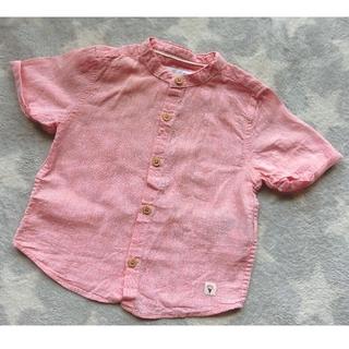 ザラキッズ(ZARA KIDS)のザラベビー ノーカラーリネンシャツ 86サイズ(シャツ/カットソー)
