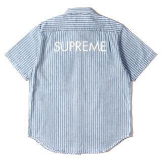 Supreme - Supreme 17ss Stripe Denim S/S Shirt