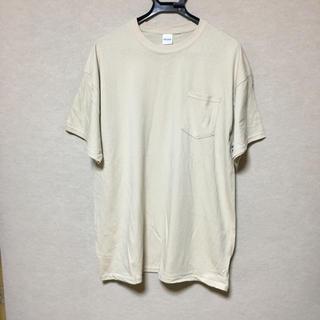 ギルタン(GILDAN)の新品 GILDAN 半袖Tシャツ ポケット付き サンドベージュ XL(Tシャツ/カットソー(半袖/袖なし))
