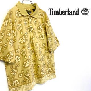 ティンバーランド(Timberland)の美品 Timber Land ボタニカルモチーフ ポロシャツ (ポロシャツ)
