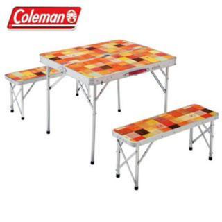 コールマン(Coleman)のコールマン テーブルナチュラルモザイク ファミリーリビングセット(テーブル/チェア)
