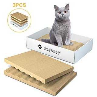 Aibuddy 爪とぎ 猫 段ボール 詰め替え用3個セット 両面使える 爪磨き (猫)
