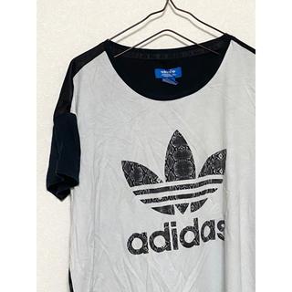アディダス(adidas)の【激レア】アディダス トレフォイル 蛇柄 スネーク柄 ビッグロゴ Tシャツ(Tシャツ/カットソー(半袖/袖なし))