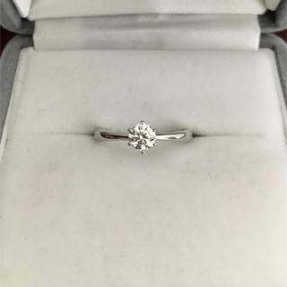 タサキ(TASAKI)の田崎真珠 ダイヤモンド リング Pt1000 0.295ct F VS-1 EX(リング(指輪))