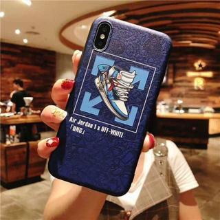 エアージョーダン バスケットボール アイフォンケース 青(iPhoneケース)