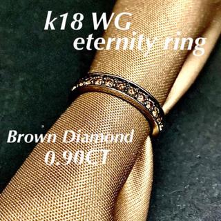veretta 8va   k18 WG  ブラウンダイヤフルエタニティーリング(リング(指輪))
