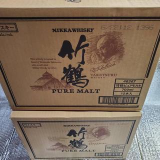 ニッカウイスキー(ニッカウヰスキー)の竹鶴ピュアモルト700ml  2ケース(12本✖︎2)(ウイスキー)