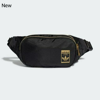 アディダス(adidas)の新品 adidas orignals ボディバッグ ウエストポーチ 黒×金(ボディバッグ/ウエストポーチ)