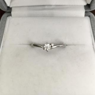 ヨンドシー(4℃)のcanal 4℃ ダイヤモンド リング Pt900 0.118ct D VS-2(リング(指輪))